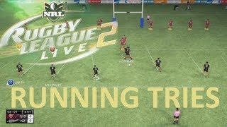 """Rugby League Live 2 """"Running"""" Online Tries Compiltion"""