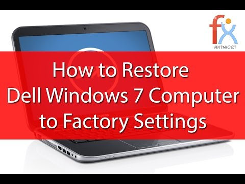 Windows Factory Reset Without Disk Dell