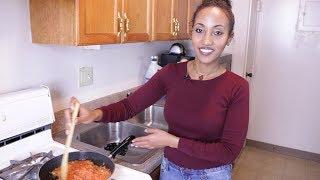 Ethiopian Food/Chickpea - How to Make Shimbra Dube Firfir - የሽምብራ ዱቤ ፍርፍር አሰራር