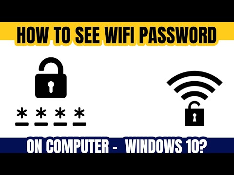 How to find wifi password on computer windows 10 | See Wifi Password on Laptop