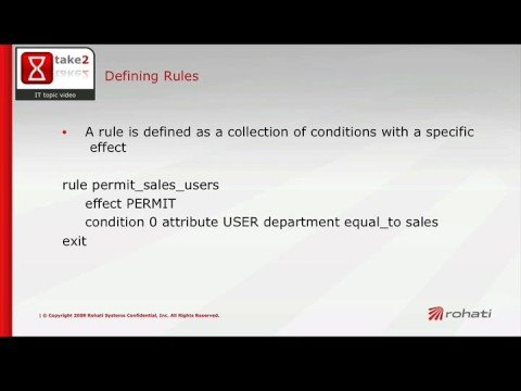 XACML Policies - Rules - A 2min Intro