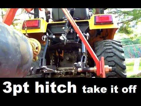 DIY 4x4 Tactor 3pt Hitch Removal and Backhoe Installation  Quick and Easy