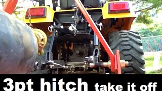 Diy 4x4 Tactor 3pt Hitch Removal And Backhoe Installation. Quick And Easy