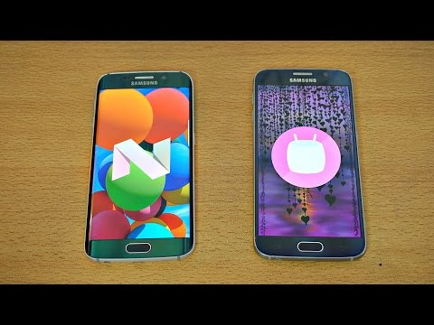 Samsung Galaxy S6 Edge Android 7.0 Nougat vs Galaxy S6 Android 6.0.1 - Speed Test! (4K)