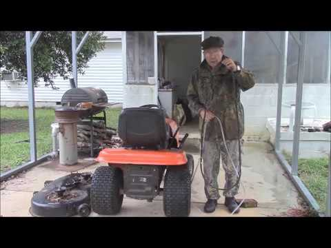 Replacing A Cut Up Belt On A Husqvarna Riding Lawnmower Youtube