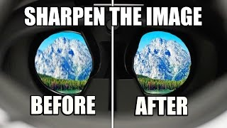PSVR Headset - How To Make The Image Quality Sharper/Clearer!