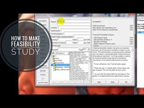 Feasibility Study or business plan tutorial