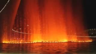 Шоу фонтанов в Олимпийском парке. Адлер, 2016 год