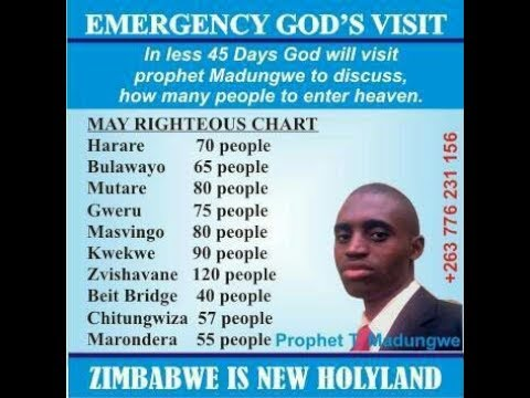 """Only 70 people are righteous in Zimbabwe,"" prophet Talent Madungwe"