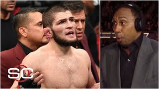 Stephen A. reacts to Khabib Nurmagomedov attacking Conor McGregor