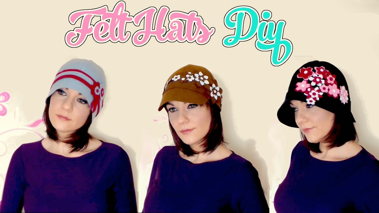 6eb47daf9b9 How to make a cloche hat with felt diy vintage hat - Isa ❤ - YouTube