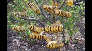 Пчелы из пластиковых бутылок для сада, дачи и огорода