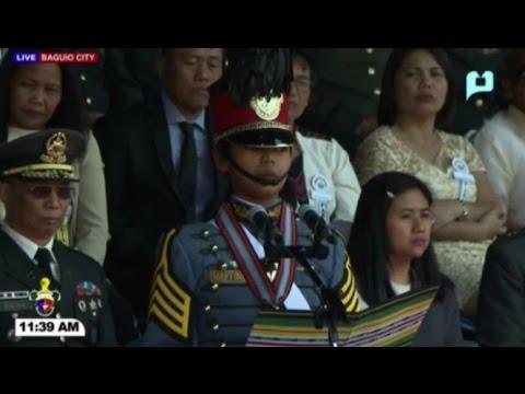 Full Valedictory Address: PMA Class Salaknib Class of 2017: Video from PTV  Visit us at http://www.inquirer.net Facebook: http://facebook.com/inquirerdotnet Twitter: http://twitter.com/inquirerdotnet