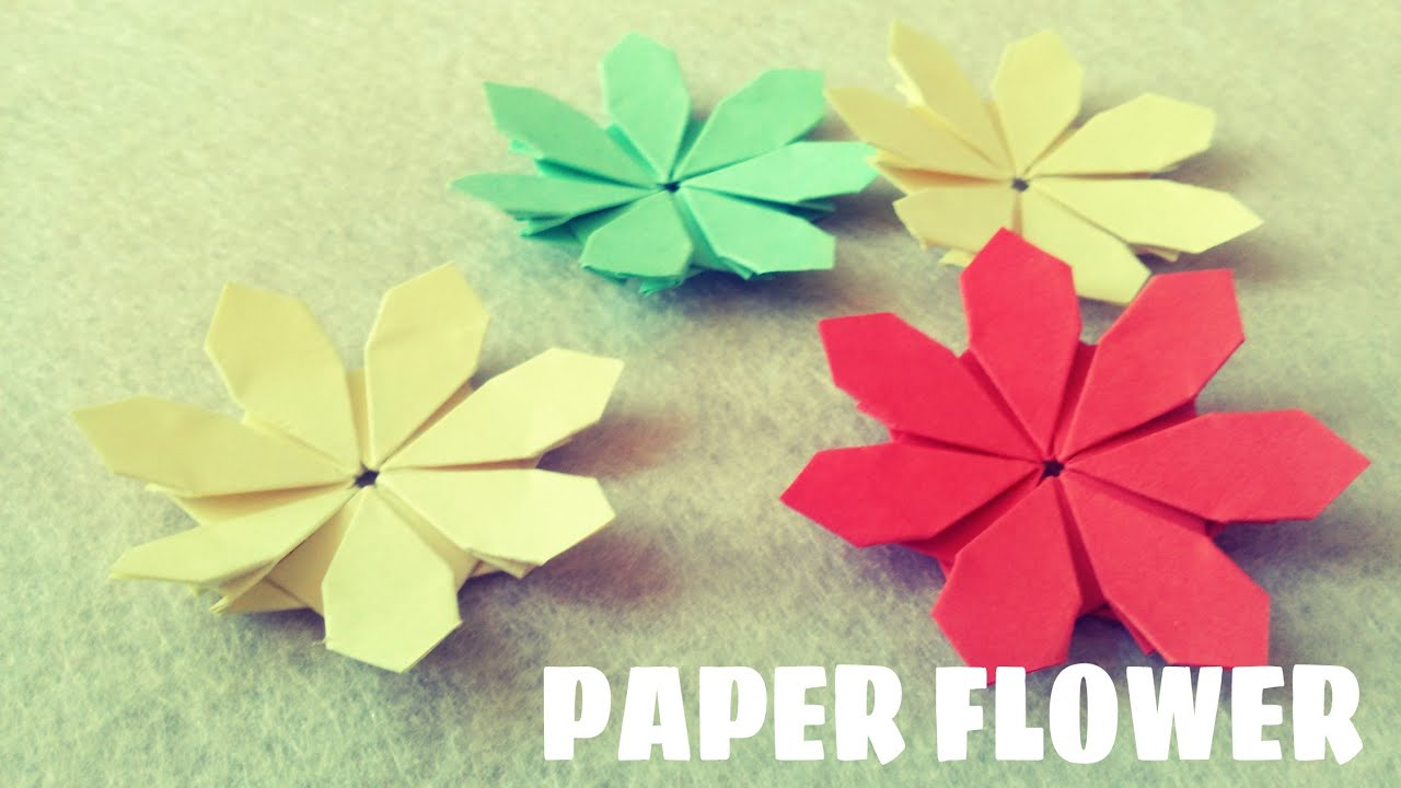 Paper Flower Tutorial Origami Easy Youtube