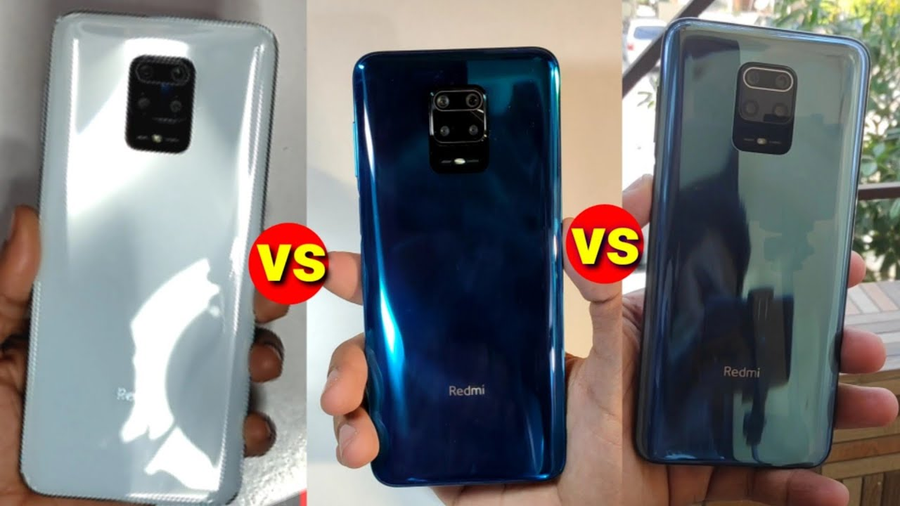 Redmi Note 9 Pro Max Colour Comparison Aurora Blue Vs Black Vs