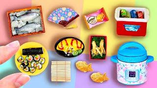 24 DIY MINIATURE BARBIE IDEAS ~ mini Sushi Curtain, mini Ginseng and more!