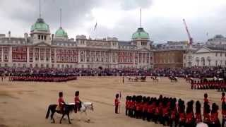Trooping the Colour 2014 - March off to Voice of the Guns
