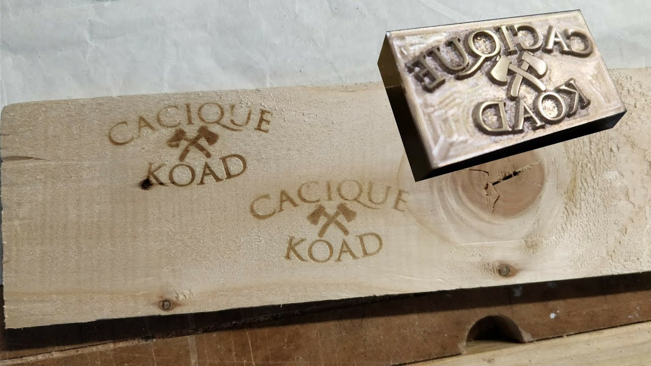 Making a wood branding iron on the CNC
