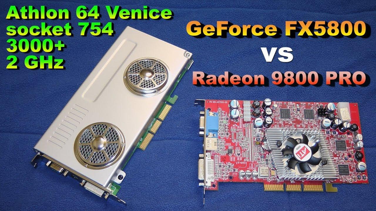 GeForce FX5800 Vs Radeon 9800 PRO On Athlon 64 Venice