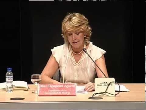 Conferencia de Esperanza Aguirre sobre la Comunidad de Madrid