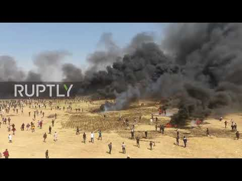 State of Palestine: Drone footage captures 'Great March of Return' protests at Israel-Gaza border