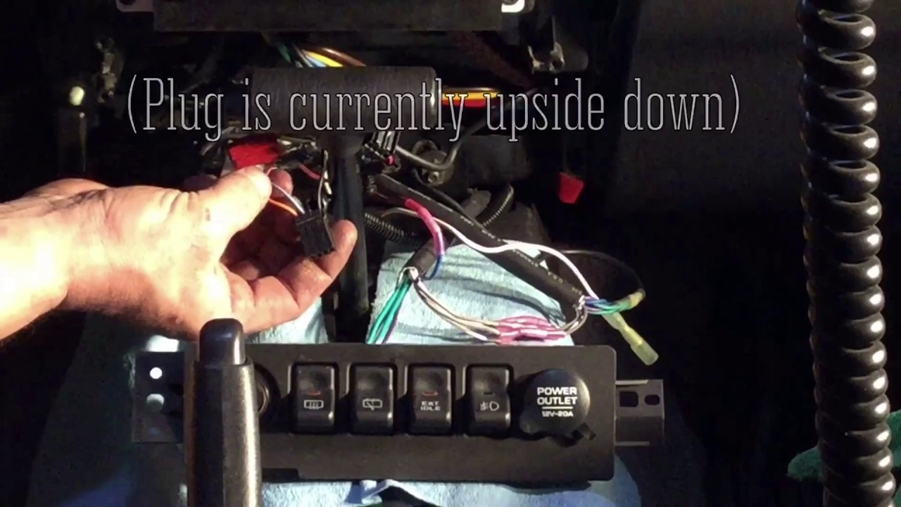 97 01 Jeep Cherokee Xj High Idle Fast Switch Wiring And Install Youtube