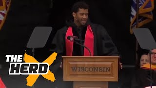 Did Russell Wilson take a shot at his former college coach? | THE HERD