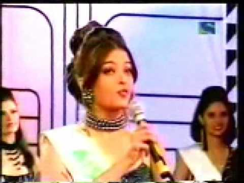 Aishwarya Rai  & Sushmita Sen -  Miss Indian Contest  ( Questions Round )