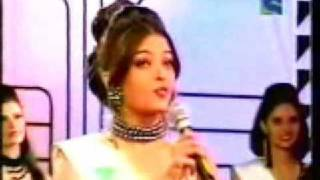 Aishwarya Rai  & Sushmita Sen -  Miss Indian Contest  ( Questions Round )
