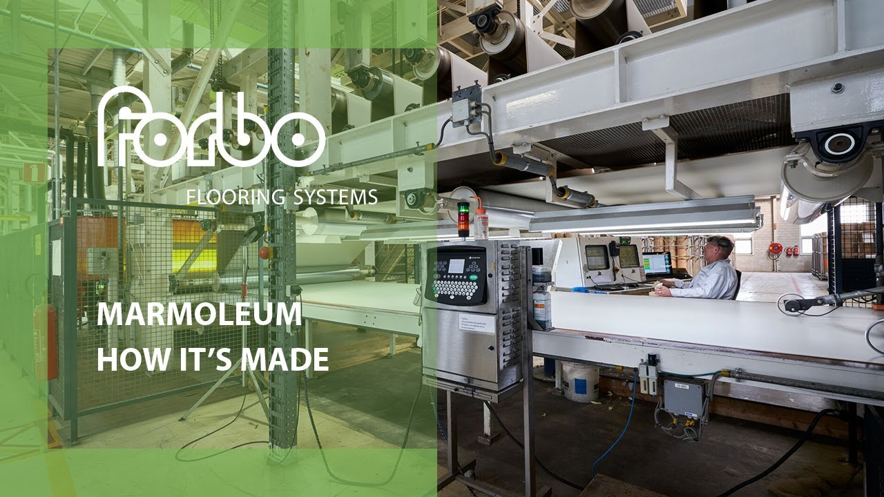 Forbo Flooring Systems Linoleum - How It\'s Made - YouTube