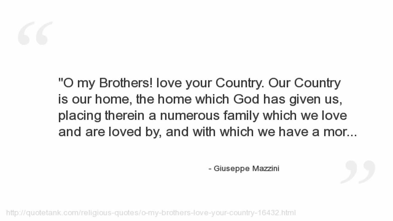 Italy Quotes Giuseppe Mazzini Quotes  Youtube