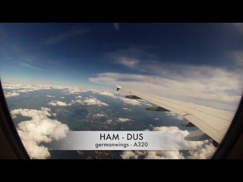 HAM - DUS | Hamburg - Düsseldorf | germanwings | Airbus A320 | Take-Off