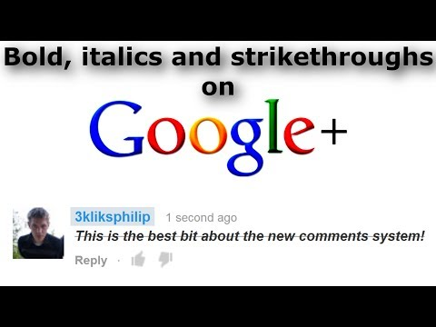 Youtube - Adding Bold, Strikethrough And Italics Text