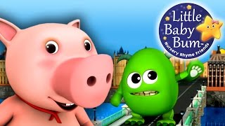 London Bridge Is Falling Down | 3D Nursery Rhymes from LittleBabyBum in HD