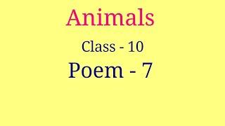 Animals class 10