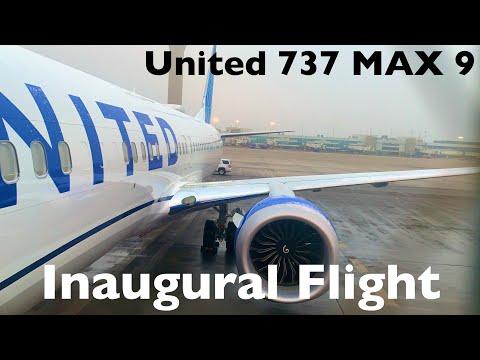 Inaugural United 737 MAX 9 Flight   Denver (DEN) - Houston (IAH) - Main Cabin