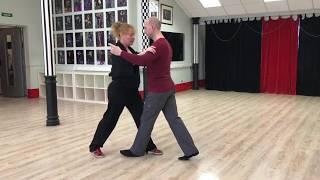 Постура в Танго,  Basic Step. 1-я часть второго урока с Эльвирой Малишевской