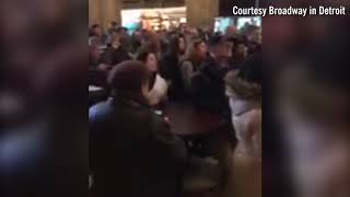 Hamilton fans line up for tickets in Detroit