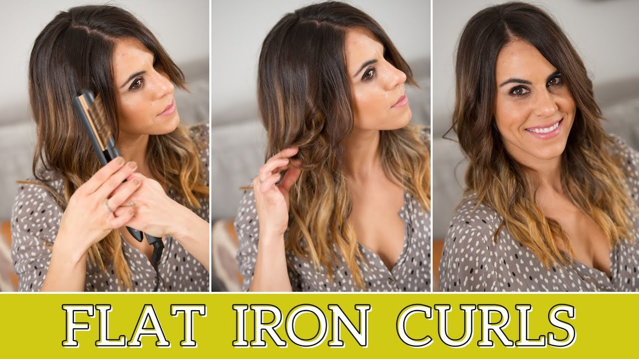 Beachy Waves How To Curl Hair Using A Flat Iron YouTube