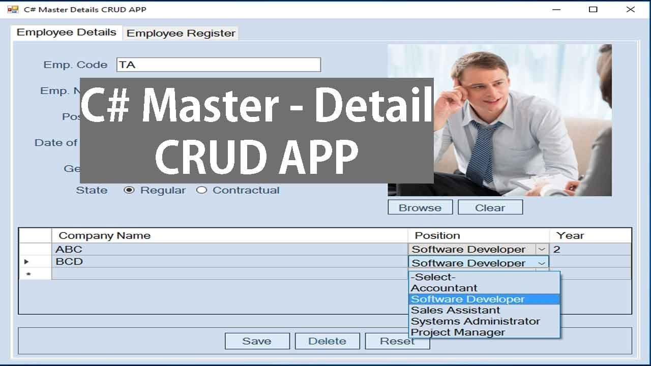 How To Create Master Details Form In C# Windows Application Using  Datagridview