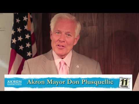 City of Akron Mayor Don Plusquellic Congratulates 2013 Akron Marathon Participants