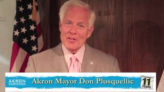 City of Akron Mayor Don Plusquellic Congratulates 2013 Akron Marathon Participants