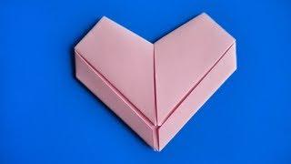 оригами сердечко медальйон, как сделать оригами сердце из бумаги // origami heart medalion