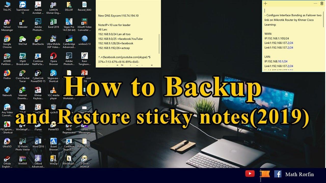 windows 8 sticky notes backup