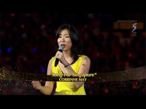 Corrinne May: Song for Singapore in NDP2015 [HD]