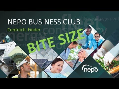 NEPO Business Club Bite Size 1: Contracts Finder