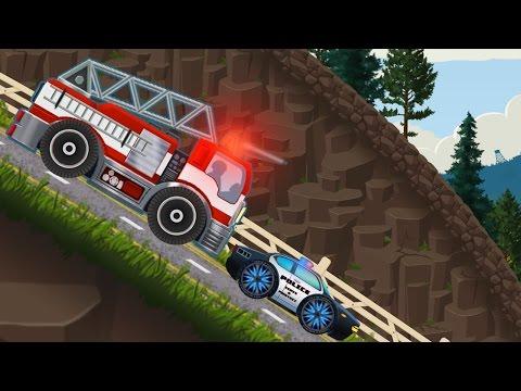 Мультфильм про машинки. Специальные машины. Полицейская и Пожарная машина. Игры для мальчиков.