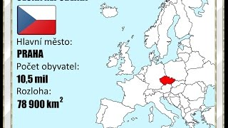 Evropské státy - slepá mapa - 1. část - nejen pro děti