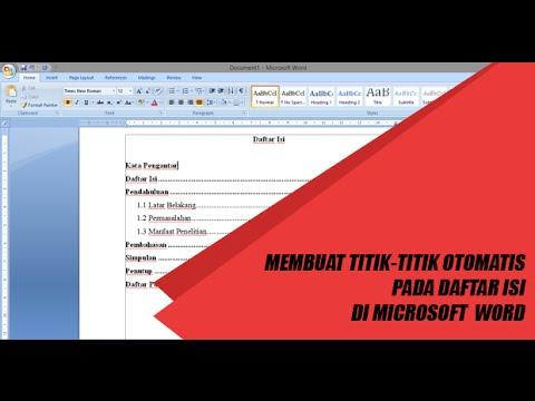 Cara Membuat Daftar Isi dengan Titik-titik Otomatis di MS Office Word
