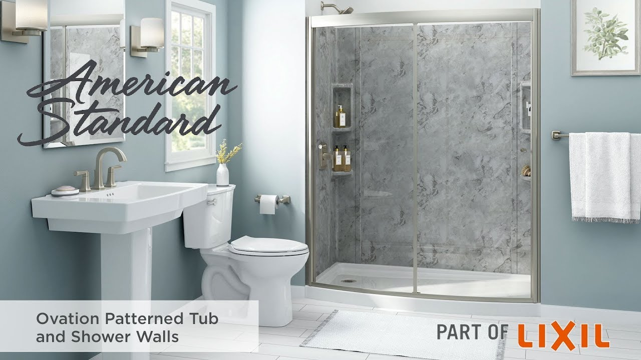 Ovation Patterned Tub And Shower Walls By American Standard Youtube